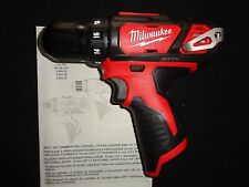 "(1) MILWAUKEE 2407-20 M12 12V 12 VOLT LITHIUM ION 3/8"" DRILL DRIVER TOOL ONLY"