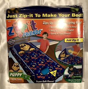 Zipit Friends Twin Bedding Set Blue Puppy