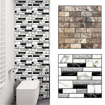 3d Waterproof Wall Sticker Mosaic Tile Wallpaper Bathroom Kitchen Home Decor Chz Ebay