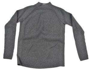 cc9ef7688 Athleta Womens Grey Gray Keyhole Back Mock Turtleneck Ribbed Sweater ...