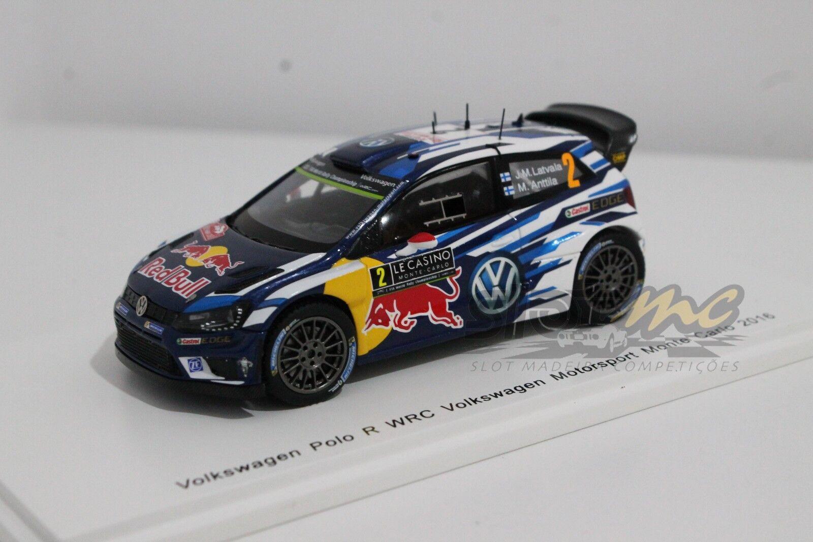 SPARK S4966 VOLKSWAGEN POLO R WRC Motorsport Monte Carlo 2016 1 43  NEW