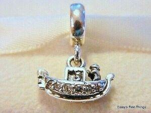 Authentic PANDORA 925 Sterling Silver Drop Charm Gondola Venice 791143CZ