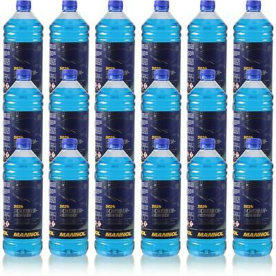 Leale 18x1 Litro Originale Mannol 5024 Dischi-detergente Per -70 ° C Antigelo Concentrato-ger -70 °c Frostschutz Konzentrat It-it Smoothing Circulation And Stopping Pains