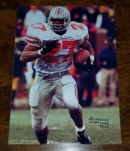a556d38389c The Ohio State Buckeyes Eddie George Ultimate Fan Collectibles 5 X 7 ...