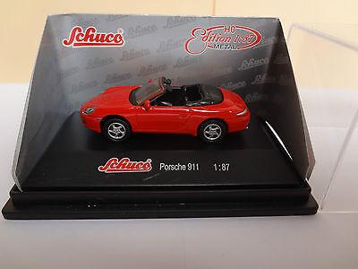 - 1:87 #452637600 rot Schuco Porsche 911 3.2 Speedster 26376