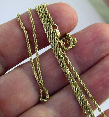 Estate Bailey Banks Biddle Bbb 14k Yellow Gold 24 Inch Long Rope Chain Necklace Ebay