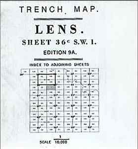 Europe Maps TRENCH MAP OF LENS 36C S.W.1 ED9A Maps, Atlases & Globes