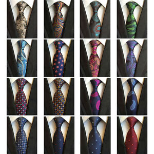 Men-Floral-Paisley-Flower-Ties-Jacquard-Woven-8cm-Wide-Silk-Necktie-HZTIE0047