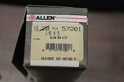"Allen 57211 1//4/"" x 6/"" Hex Bit Straight 2pcs USA"