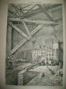 SIEGE-DE-PARIS-CANONS-MITRAILLEUSES-POTHIER-ABATTOIRS-BOMBARDEMENT-GRAVURES-1871