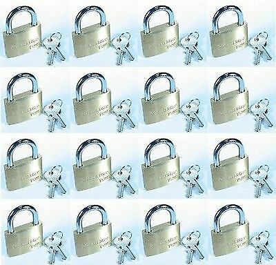 "Lock Set By Master 4150KA (Lot 16) KEYED ALIKE Large 1⅞"" Wide Brass Body"