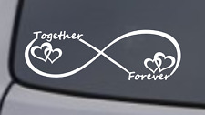 TOGETHER FOREVER INFINTY Vinyl Decal Sticker Car Window Bumper Heart Love Symbol