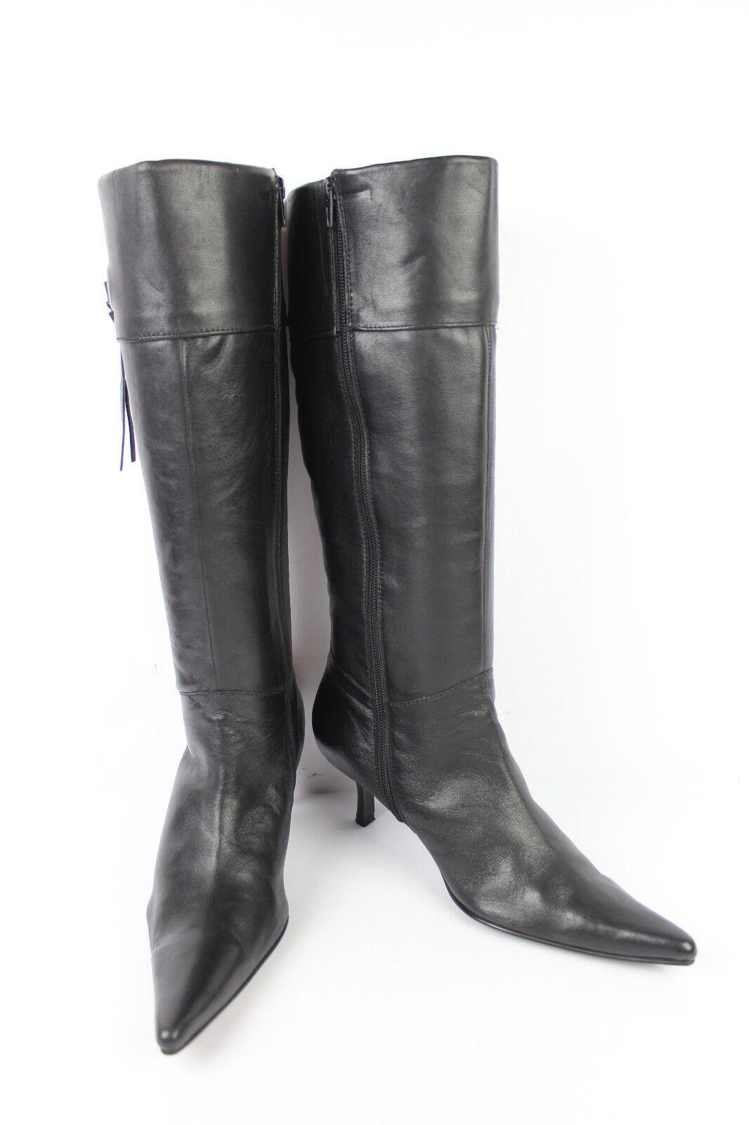 Stiefel eifersüchtig schwarzes Leder T 40 sehr guter Zustand