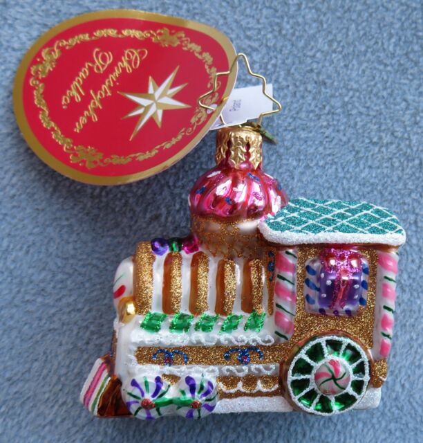 Christopher Radko Christmas Ornament Train Sugar Choo Choo Gem #1018343 NIB