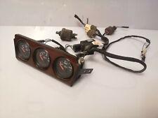 Audi 80 90 B3 Coupe Vdo Gauge Wooden Set Voltmeter Oil Pressure Temperature 2