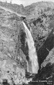 Bear-Creek-Falls-Million-Dollar-Highway-1940s-Sanborn-RPPC-real-photo-1205