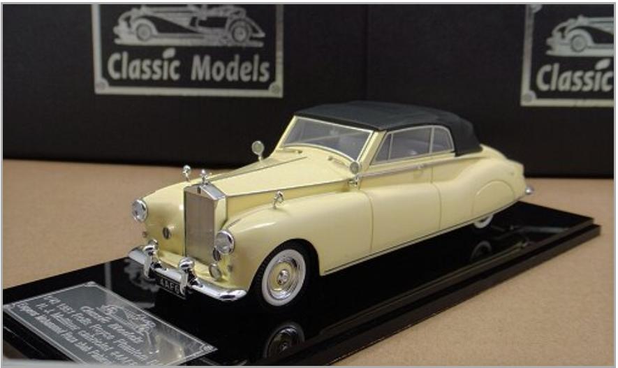 1/43 Rolls Royce 1951 1951 1951 Phantom IV Cabriolet   Close  Cream Color Chassis 4AF6 ad0738