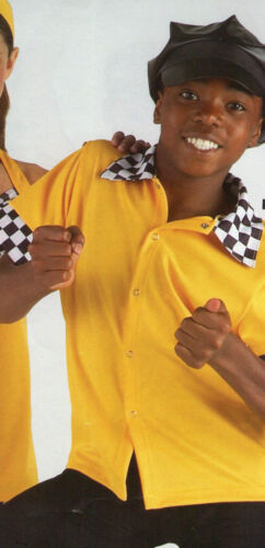 NWT 50/'s style Dance Shirt Snap front Bowling Carhop Taxi Checkered 2 COLORS