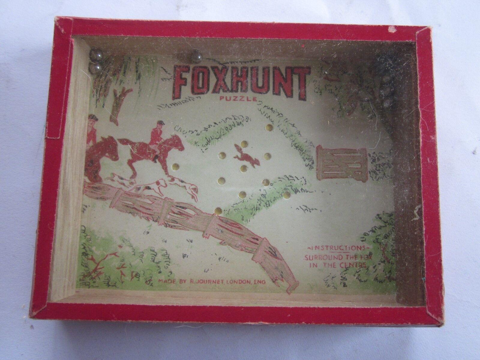 Vintage FOXHUNT PuzzleThe RJ Series Popular Puzzles Journet London England