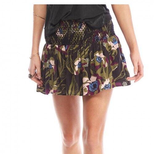 Free People Womens LA Nights OB560516 Skirt Mini Onyx Combo Multi Size XS