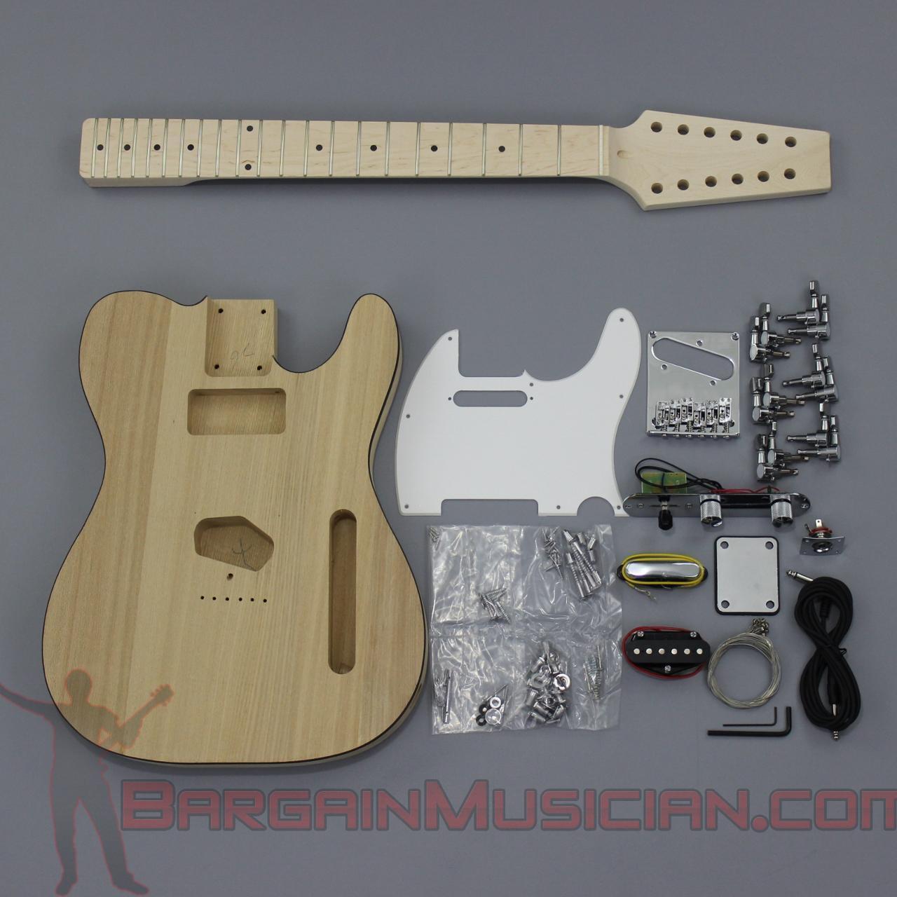 Bargain Musician - GK-024 - DIY Unfinished Project Luthier Guitar Kit