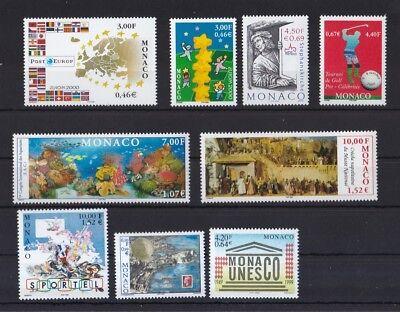 Briefmarken Monaco 1999/2001 Postfrisch Marken-lot 4 Siehe Bild Hohe Sicherheit