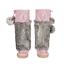 Lukluks Bubblegum Pink Suede Mukluks with White Embroidery