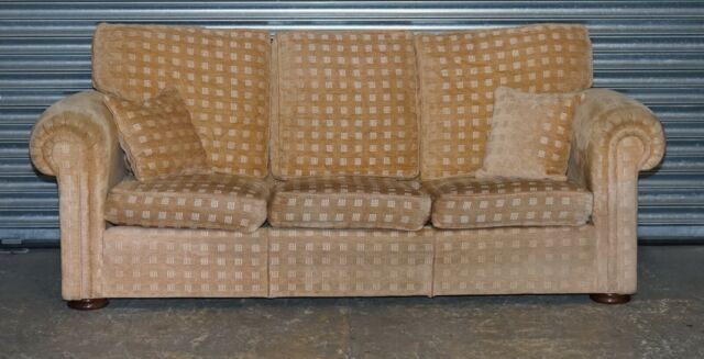 Scs Three Seater Fabric Chesterfield Sofa For Sale Ebay