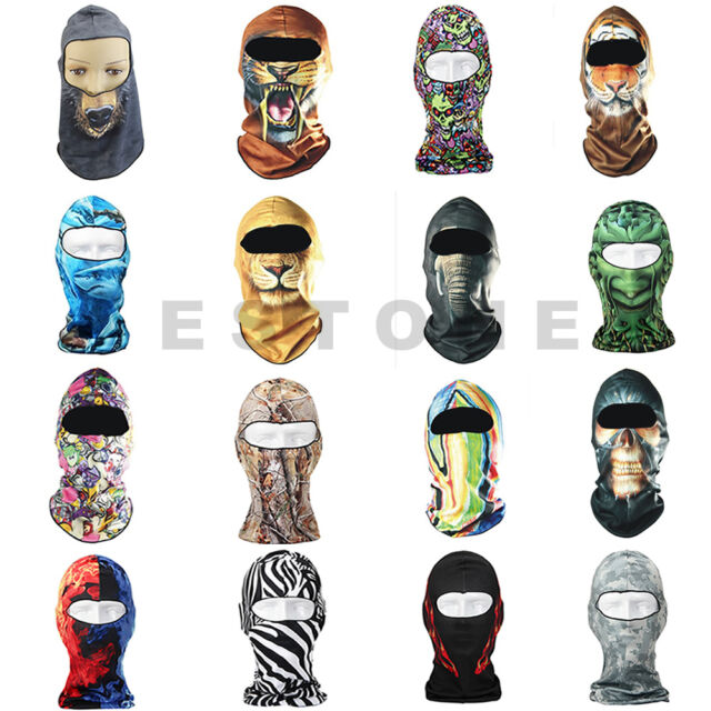 Cycling 16 Styles  Motorcycle Skull Cap Breathable Dust Proof Hat Full Mask Face