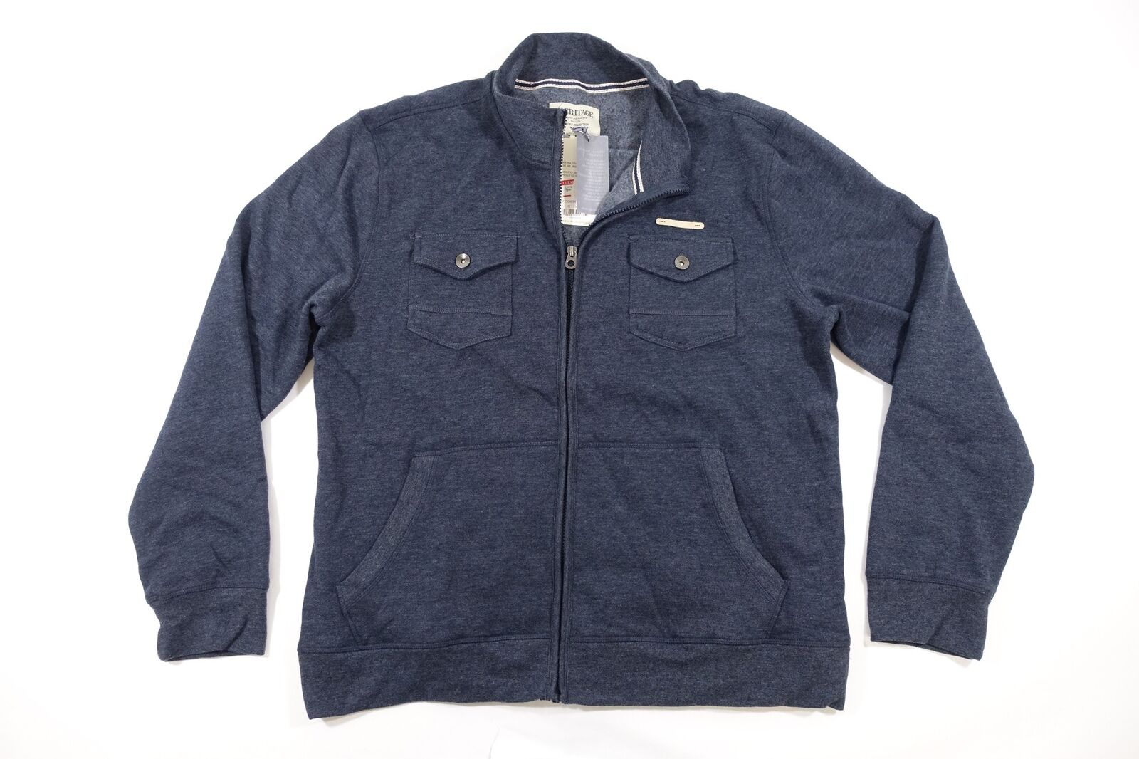 Report Collection Heritage Navy Blu Blu Blu Medio Slim Intera Tasca con Zip Maglione 43baf6