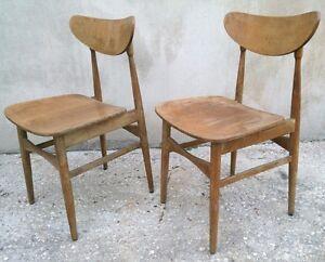 Eccezionale coppia di sedie design scandinavo originali for Sedie design anni 20