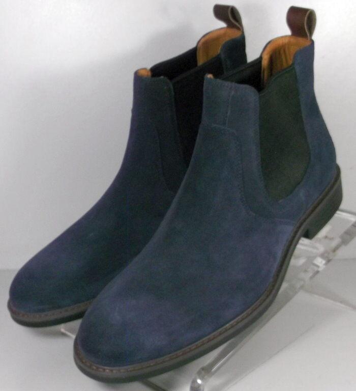 203967 SPBT 50 Chaussures Hommes Taille 9 M Bleu Marine En Daim À Enfiler Ons Johnston & Murphy