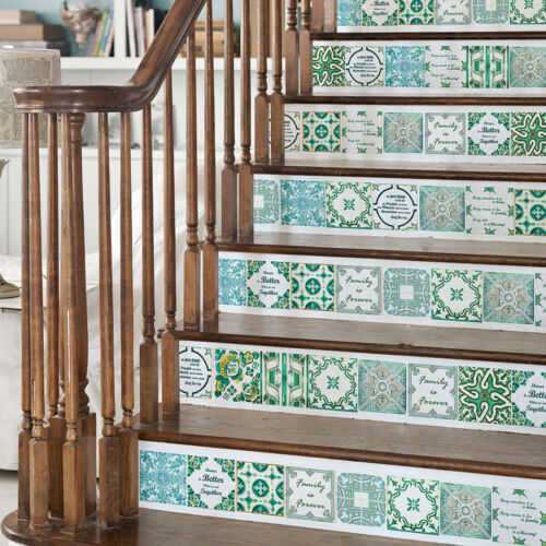 "6/"" Vintage English Love Family Quote Mosaic Tile Stickers Decal Kitchen Stair"