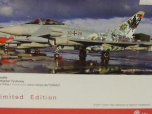 "1/200 Herpa Luftwaffe Eurofighter Typhoon Taktlwg 74 Cyber Tiger"" 558327"