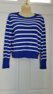 NEW! Banana Republic Women Blue White Striped Long Sleeve Sweater SZ/XS NWT/$64