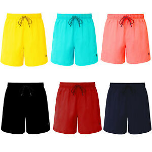 Mens-Swim-Shorts-Plain-Mesh-Lining-Quick-Dry-Swimming-Summer-Beach-Pool-Trunks