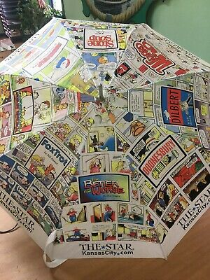 Vintage Kansas City Star Newspaper Umbrella Comics Garfield Ziggy Dilbert Ebay