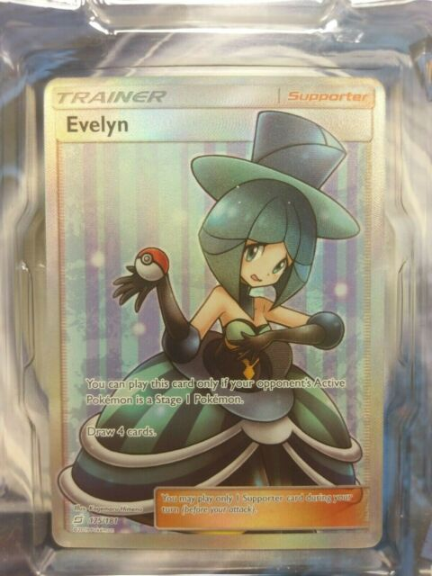 Evelyn Full Art 175/181 - Team Up Pokemon Card, NEW