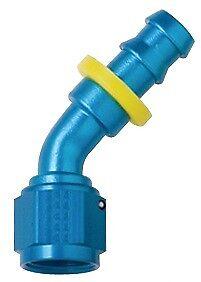 4AN Blue Push Lock 45 Degree Bend Race Hose Ends 204504 Fragola