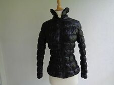 Forever 21 Puffy Jacket Womens Juniors Packable Winter Casual Coat Black US SZ 2