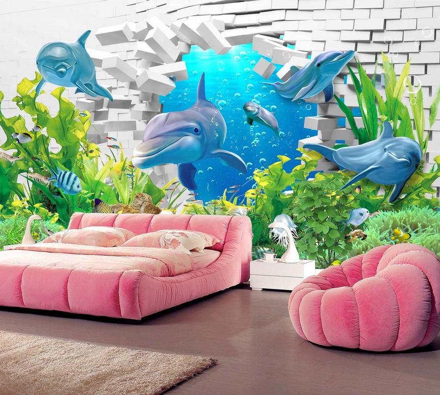 3D Seedelfin Seetang 67 Tapete Tapeten Mauer Foto Familie Tapete Wandgemälde DE