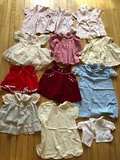 Vintage Lot Of Baby Girl Toddler Dresses Smocked Boho 2T
