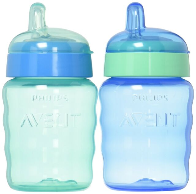 3 Pack Phillips Avent My Bendy Straw Drinking Cup 7 oz Assorted Colors