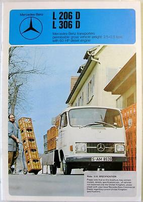 MERCEDES-BENZ L206D L306D Transporter Original Commercials Sales Brochure 1977