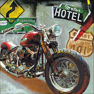 Image Is Loading Motorcycle Art Print Highway 101 By Ray Foster