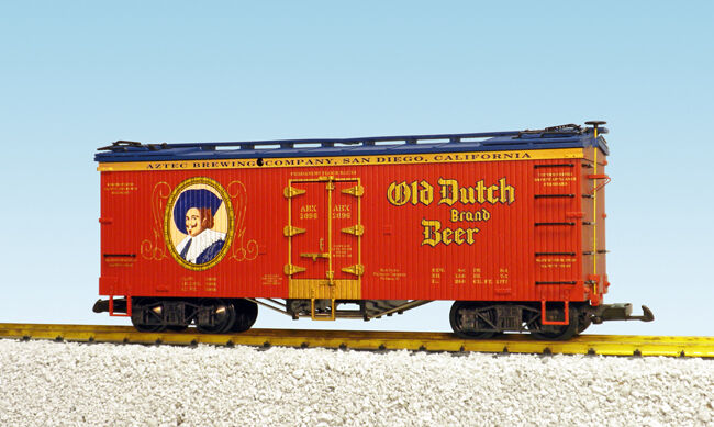 USA Trains G Scale U.S. REFRIGERATOR CAR R16435 Old Dutch Beer – Oxide/Wabash Bl