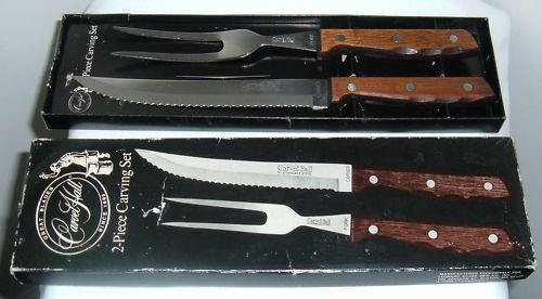 Vintage Carvel Hall 2 PC Carving Knife Fork Set Stainless Steel A Towle Co