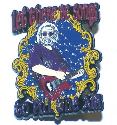 10 (wholesale) GRATEFUL DEAD JERRY GARCIA LET THERE BE SONGS 1 3/4 inch PIN