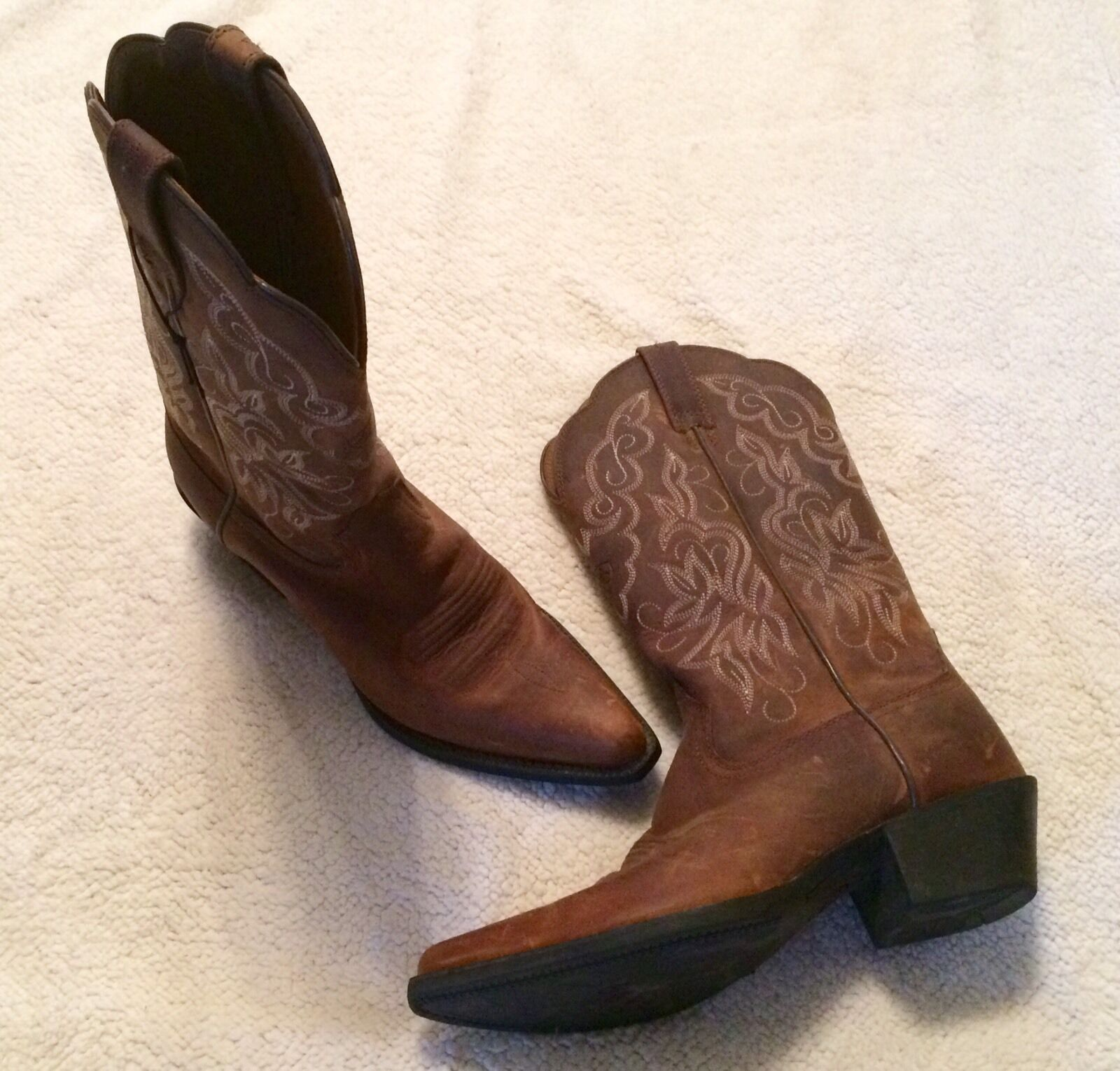 Ariat ATS Weathered X Toe Cowboy Boots 12 12 12  SZ 5.5 B VERY NICE 9332fa