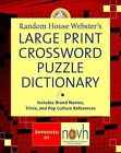 Random House Webster S Large Print Crossword Puzzle Dictionary Very Good 037572